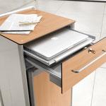 Optional lässt sich der Somero mit einer Schublade mit integriertem Laptop-Auszug ausstatten.