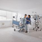 Die laterale Schwenkung unterstützt die einfache Mobilisierung der Patienten.