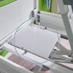 Freiräume zwischen den Liegeflächenteilen sind durch Schutzabdeckungen unzugänglich.