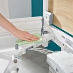 Alle Komponenten des Seta pro sind für eine gründliche Reinigung leicht zugänglich.