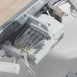Alle Elektronik-Komponenten des Puro sind leicht zugänglich, Service-Techniker sparen bis zu 20 Minuten Zeit.