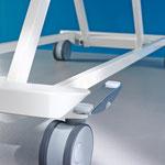 Das Untergestell des Puro überzeugt wie das gesamte Bett durch sein flächiges, hygienefreundliches Design.