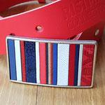 Boucle de ceinture  Bleu Blanc Rouge