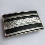 Boucle de ceinture Noir et argent