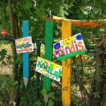 Kita-Zaun mit Kindernamen