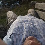 Noch ein Bär: Selfie von Frank Butschbacher vor der Geländehütte. (Foto: Frank Butschbacher)