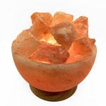 Lampe Salzschale mit Salzbrocken