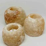 Salzteelicht Brocken im Geschenkkarton 3 verschiedene Größen