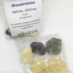 Rohe Wasserstein Mischung Fluorit Orangencalcit