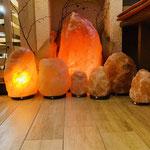 Salzlampen Brocken, verschiedene Größen für Boden