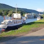 Der Anleger für Kleinboote von Miltenberg.