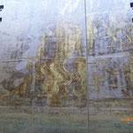 Malerei ..... der Reibhölzer an der Schleusenwand!