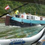 Ein weiteres österreichisches Boot ... zu schnell für MOANA