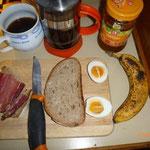 Frühstück in Fahrt .... fällt bescheidener aus!