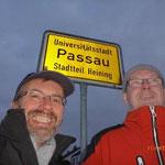 Fußmarsch ins Zentrum von Passau.