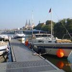 Ein toller Liegeplatz in der Donau beim MYC Regensburg.