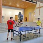 Tischtennistisch, gespendet vom Elternverein