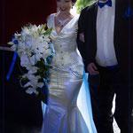 Ensemble de la mariée (haut, jupe sirène, corset, parure, jarretière)