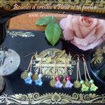 Boucles d'oreilles Fleur et sa perle (EN VENTE)
