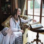 Ensemble de la marié (veste traine, corset et jupe)