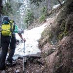 22. März: Besonderes Vergnügen: Mit den Skiern auf den Mendelberg.