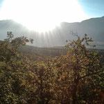 23. Oktober: Blick vom Montiggler Wald in Richtung Mendelberge.