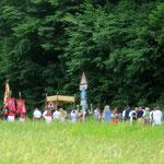 10. Juni: Fronleichnamsprozession im Nachbardorf Perdonig