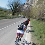14. April: Erste lange Biketour von St. Pauls ins Trentino