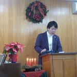 1部では、クリスマスソングを歌い、また牧師よりクリスマスのお話しがありました。