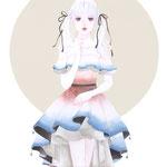 ファッションイラスト ガールズイラスト ドレス ウェディング