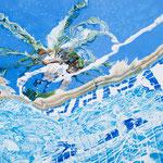 """Johannes Schramm """"Unter Palmen 2"""" 120x160cm Oil on canvas 2014"""