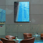 "Johannes Schramm ""Schwimmhalle"" 200x150cm Oil on canvas 2006, privately owned, installation view Hilton Frankfurt"