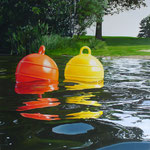 "Johannes Schramm ""Am Ufer"" 100x100cm Oil on canvas 2012, privately owned"