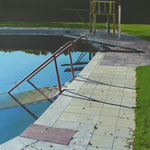 "Johannes Schramm ""Wiesmühlenbad 5"" 80x80cm Oil on canvas 2008, privately owned"
