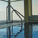 "Johannes Schramm ""Indoorpool 4"" 100x60cm Oil on canvas 2008, privately owned"