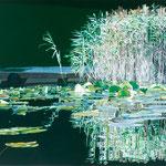 "Johannes Schramm ""Schilf"" 80x100cm Oil on canvas 2014, privately owned"