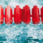 "Johannes Schramm ""Stadtbad Mitte 7"" 50x120cm Oil on canvas 2012, privately owned"