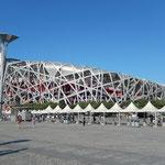 """Das National Stadion """"Birdsnest"""" von der Basler Architekten Herzog&Demeuron"""