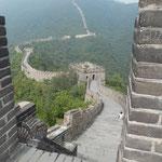 Die berühmte Chinesische Mauer bei Mutanyu