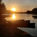 Le coucher de soleil sur la Loire