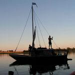 ein traditionnels Holzboot der Loire