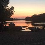 coucher du soleil sur la Loire