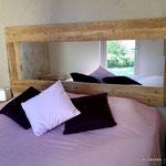 lit double de 160 x 200 avec matelas grand confort