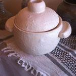 鍋土 白釉
