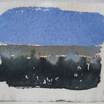'Sunset' a-#6/ aquarel, pigment Indian handmade paper, 13x18cm / 2014