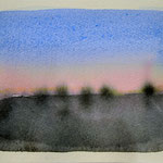 'Sunset' a-#2/ aquarel, pigment on paper, 13x18cm / 2014 / Private collection in the Netherlands