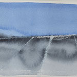 Horizon platteland - 1, aquarel op papier / 10x15cm