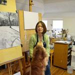 Tchai & Mamiko in atelier