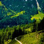 Blick auf den Weg zur Südtorwand, Dachstein, 80x180 cm