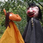 """""""Die kleine Hexe"""" - Pferd und Kutscher"""